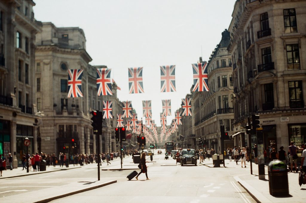 brexit uk flags in the street