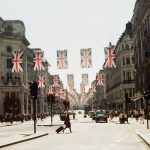 brexit uk flags on street